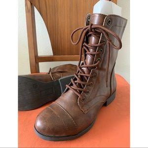 Shoes - Lace-up Combat Boots